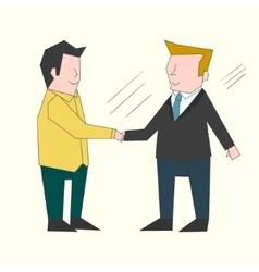 Handshake businessmen color vector