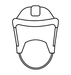 Hockey helmet icon outline style vector