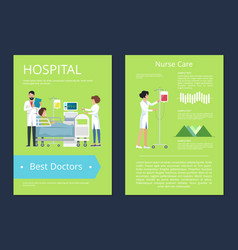 hospital best doctors care vector image