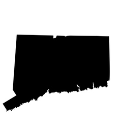 Map of the us state connecticut vector
