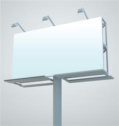 outdoor blank billboard vector image vector image