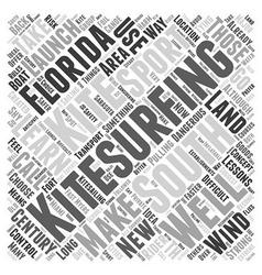 South florida kitesurfing word cloud concept vector