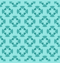 Tiffany jade and seafoam ornamental swirl vector