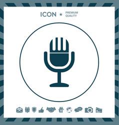 Vintage microphone symbol icon vector