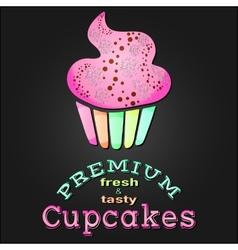 Vintage premium cupcake card poster eps 10 vector