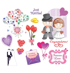 wedding elements vector image vector image
