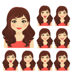 womans emotion vector image