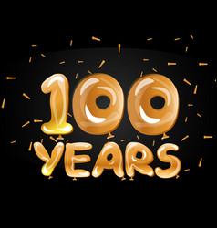 100th golden anniversary logo vector image