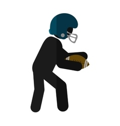 Isolated player of american football design vector