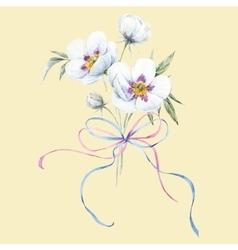 Watercolor floral bouquet vector