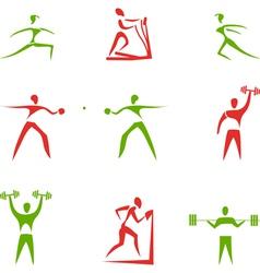 Sport figures vector