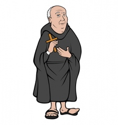 monk vector image