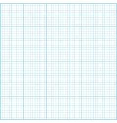 Blue millimeter paper background Square grid backg vector image