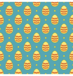 Tile pattern with easter eggs and polka dots vector image