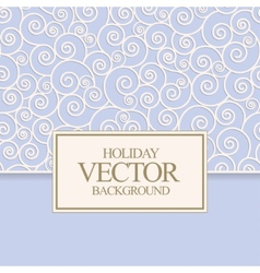 blue card design vector image