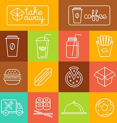 Take away food vector