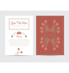 Decorative card template vector