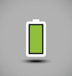Fully charged green battery icon vector