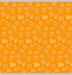 Summer seamless pattern background vector