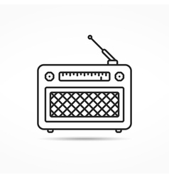 Retro Radio Line Icon vector image