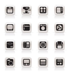 simple home and office equipment icons vector image