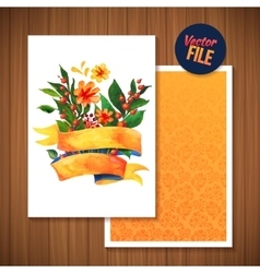 Beautiful floral greeting card bright vector