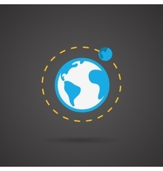 Earth orbit earth icon vector