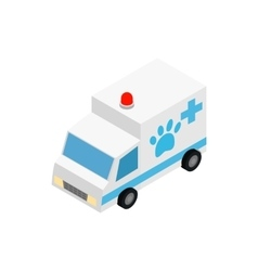 Veterinary ambulance icon isometric 3d style vector