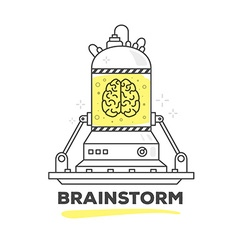 Creative professional mechanism of brains vector