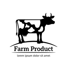 Cow logo emblem vector