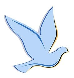 Soaring dove logo vector
