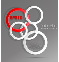abstract geometric background with 3d circles vector image