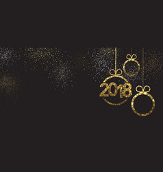 Black 2018 new year banner vector