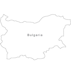 Black White Bulgaria Outline Map vector image vector image