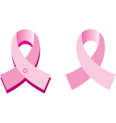 cancer ribbons vector image