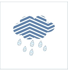 Cloud rain meteorology season sky symbol vector