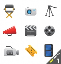 film icon vector image vector image