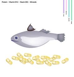 Fish with protein vitamin b12 niacin or b3 vector