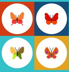 Flat monarch set of monarch danaus plexippus vector
