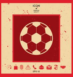 football symbol soccer ball icon vector image vector image