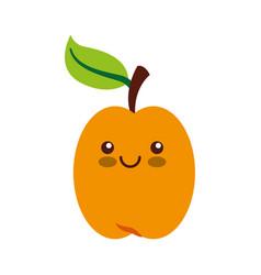 Fresh fruit kawaii character vector