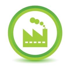 Green factory icon vector