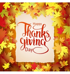 Happy Thanksgiving hand drawn calligraphy vector image
