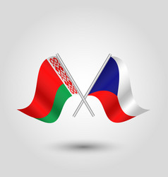 icon of czech republic and belarus vector image
