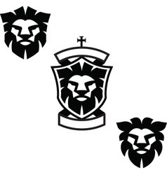 Lion heads vector image