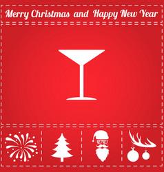 martini icon vector image vector image