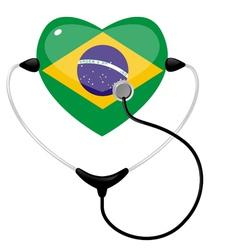 medicine brazil vector image