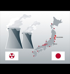 nuclear japan vector image vector image