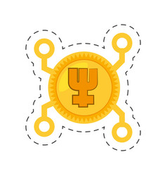 primecoin money golden digital vector image