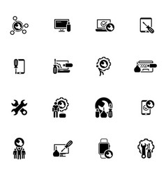 repair service and maintenance icons set vector image vector image